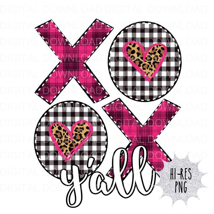 XOXO Yall Digital Download PNG