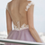 Long A-Line Cap Sleeve Backless Lace Prom Evening Dress F6959