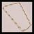 925 Fine Silver Blue topaz Semi Precious Gemstone Chain Jewelry Necklace,Blue