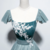 Green Tulle Velvet Cap Sleeve Ankle Length Prom Dress, Party Dress With Applique