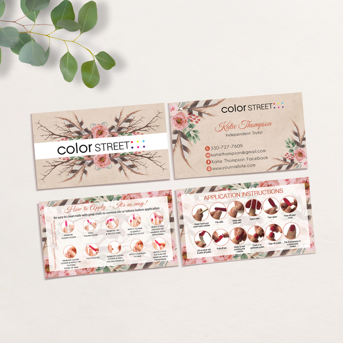 Color Street Application Cards, Color Street Business Cards, How to Apply Cards,