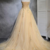 Sweetheart Champagne Tulle Strapless Long A Line Prom Dress, Formal Dress With