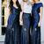navy blue bridesmaid dresses long mismatched sparkly sequin cheap wedding party