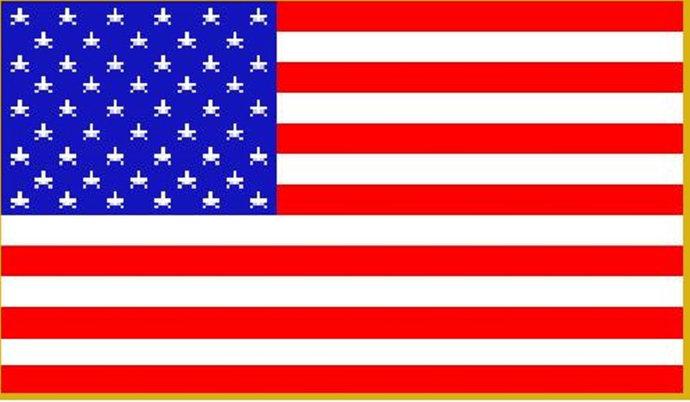 American Flag Mini C2C Crochet Pattern Corner to Corner Blanket Afghan Row by