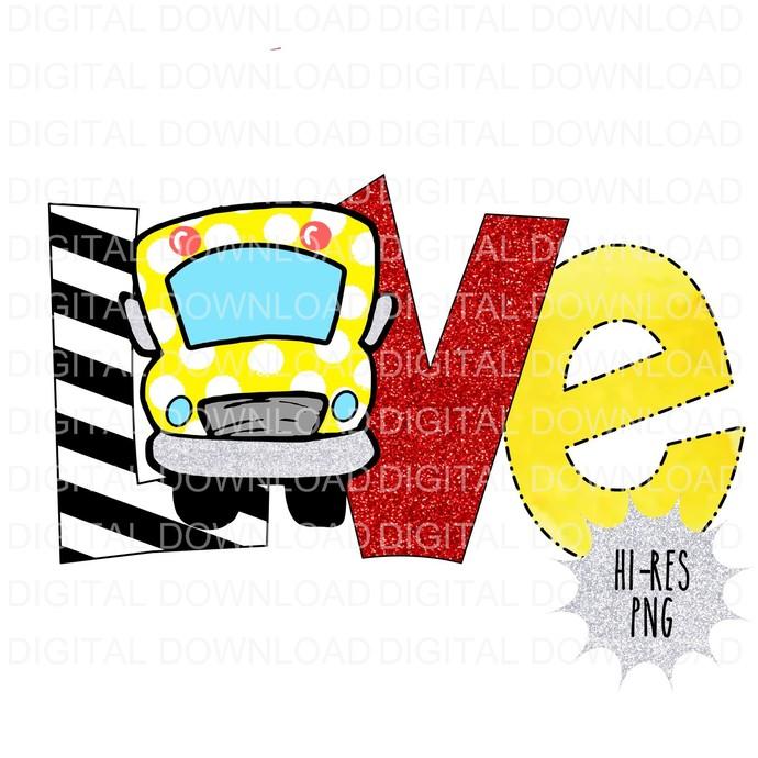 Love Bus Digital Download PNG