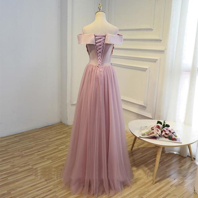 Cheap Pink Long Party Evening Dress  Women Formal Prom Gown