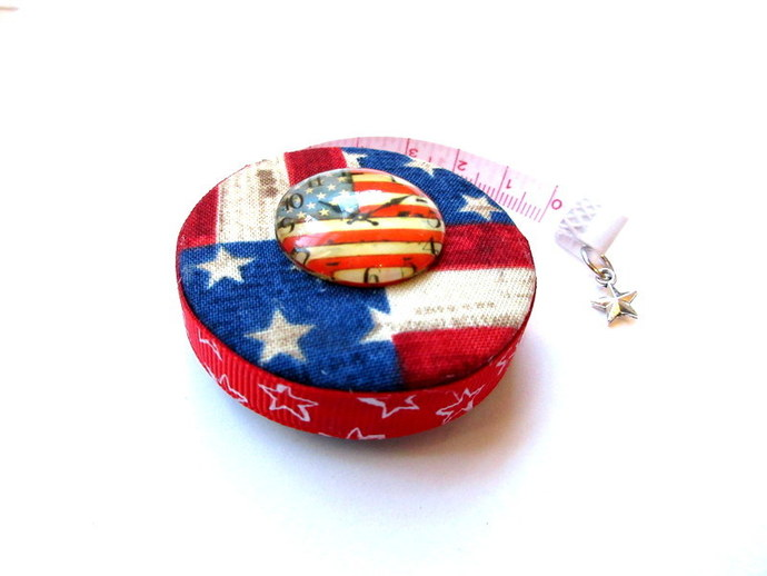 Measuring Tape  American Flag Time Small Retractable Tape Measure