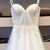Princess Straps Tulle A Line Long Prom Dress, Appliques White Prom Dresses