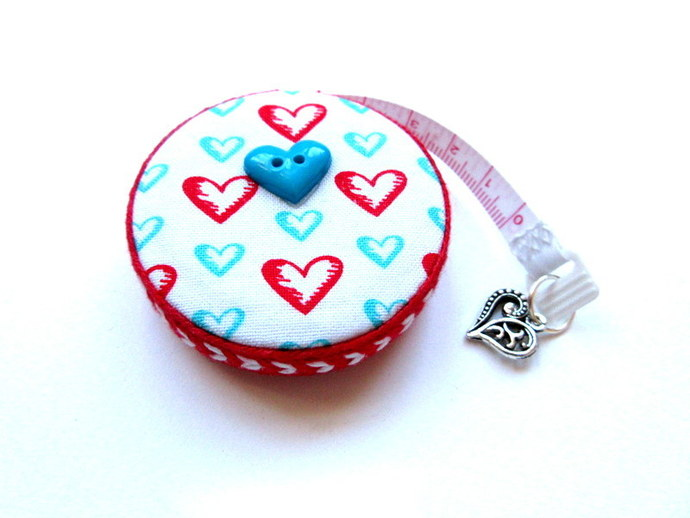 Tape Measure Only Hearts Small Retractable Measuring Tape