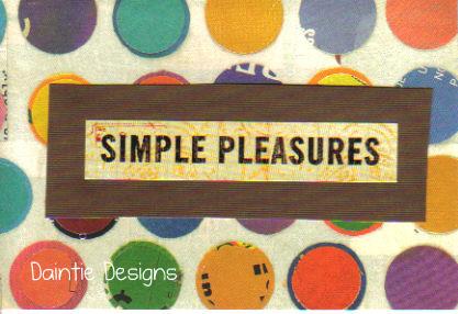 Simple Pleasures Greeting Card