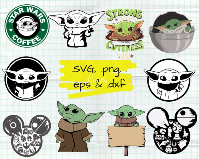 ClipartShop, Baby Yoda, Baby Yoda svg, Baby Yoda clipart, Baby Yoda cricut, Baby