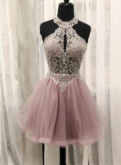 Elegant Tulle Homecoming Dress, Short Prom Dresses, Graduation Dress, Party