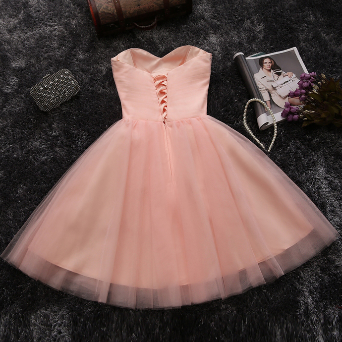 Tulle Homecoming Dresses, Pink Short Prom Dresses