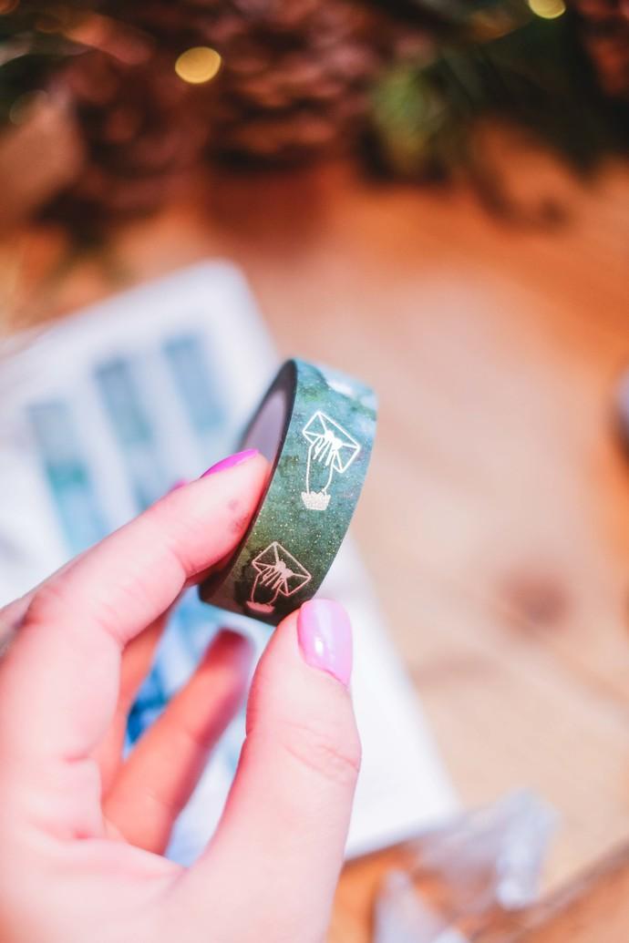 London Gifties original lustre design tape - Handing Envelope - Mossy Green -