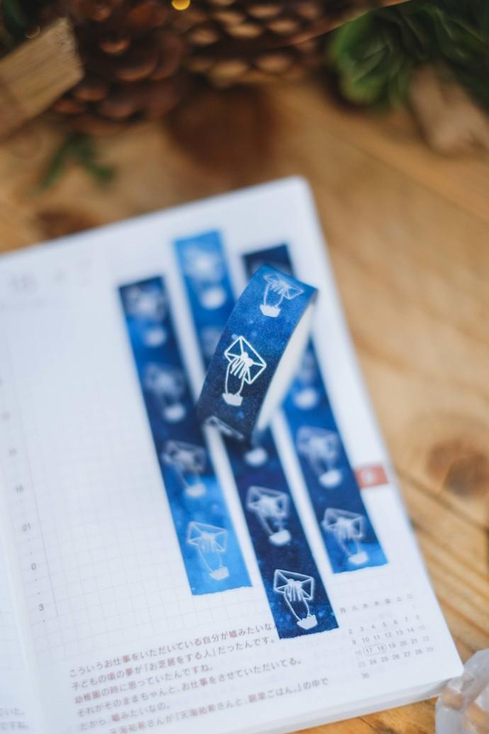 London Gifties original lustre design tape - Handing Envelope - Midnight Blue -