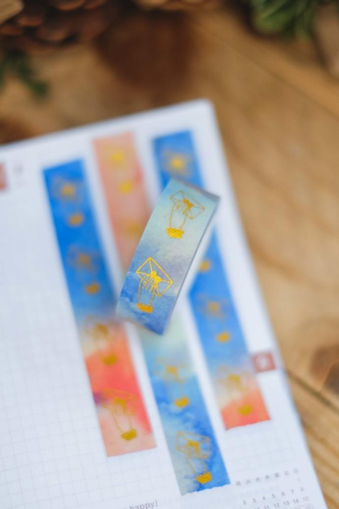 London Gifties original lustre design tape - Handing Envelope - Salmon Swim -