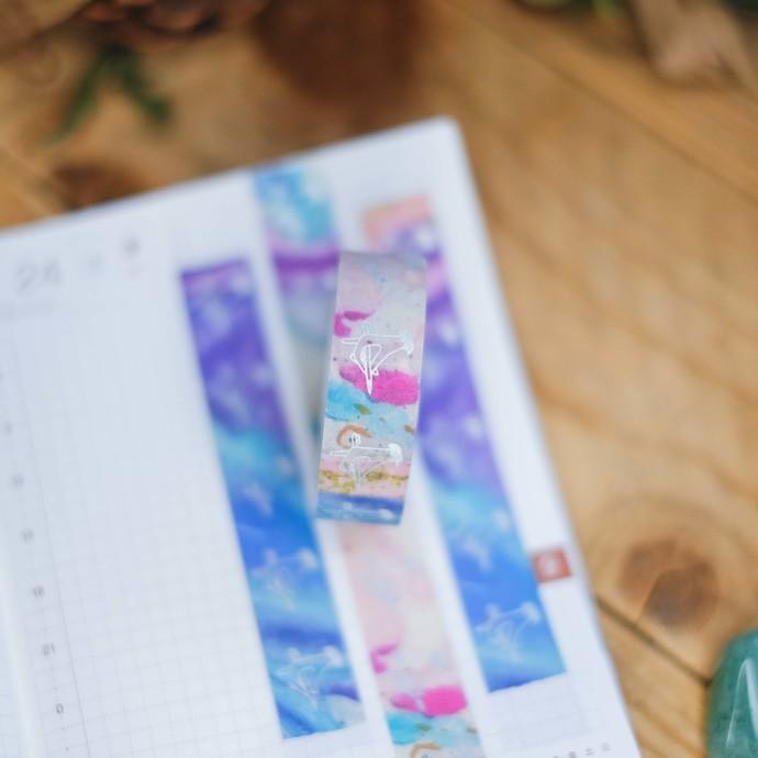London Gifties original lustre design tape - Holding Pen - Colour Carnival -