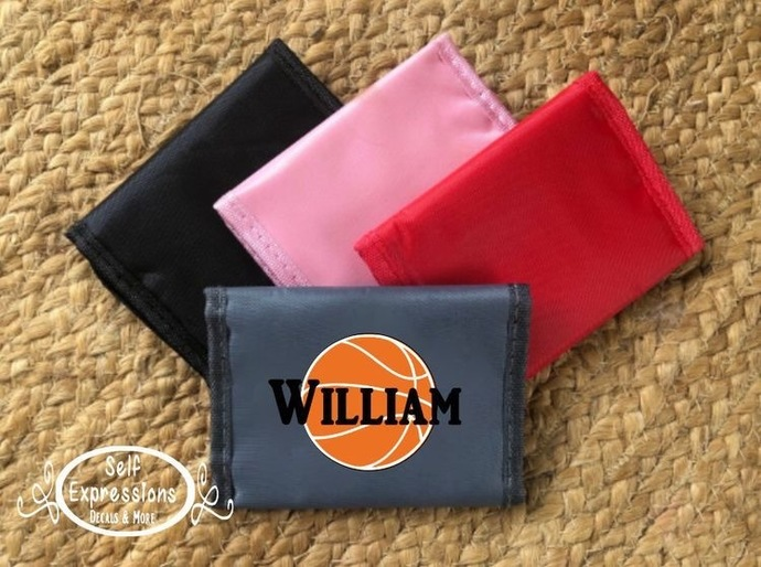 Kids Personalized Basketball  Wallet