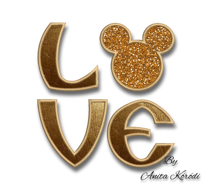 Love Mickey Embroidery Machine Applique Design Pes File Valentine's day
