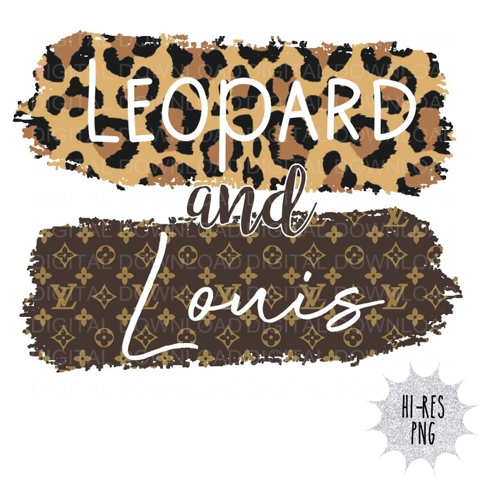 Leopard and Louis Digital Download PNG