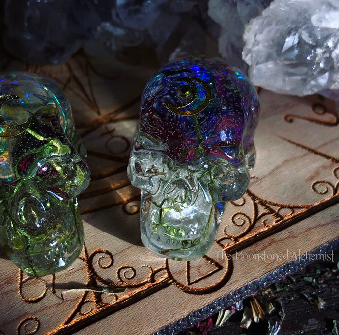 Mini Cosmic Bat Skullies infused with red baby rosebuds and cosmic magic