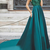 Pretty Tulle & Taffeta  Neckline A-line Evening Dresses With Beaded Lace