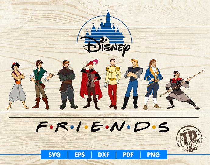 Disney Prince SVG, Disney Friends Svg, Flynn Rider, Kristoff Svg, Aladdin,