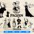 Frozen SVG Bundle, Frozen Princess Anna and Elsa, Kristoff, Olaf Clipart,