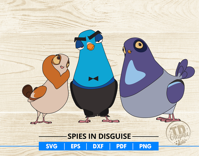 Spies in Disguise SVG, Pigeons Svg, Vector Cut File Cricut Design, Silhouette,