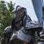 Knight warrior - 2.20 Metre Metal art sculpture - unique metal art decor -