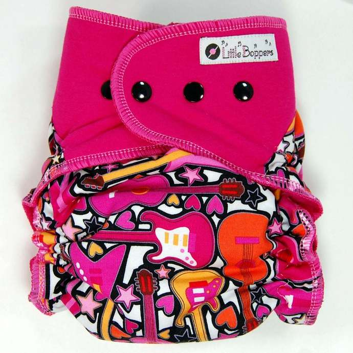 Girls Rock - Cloth Diaper or Cover - You Pick Size and Style - Made to Order