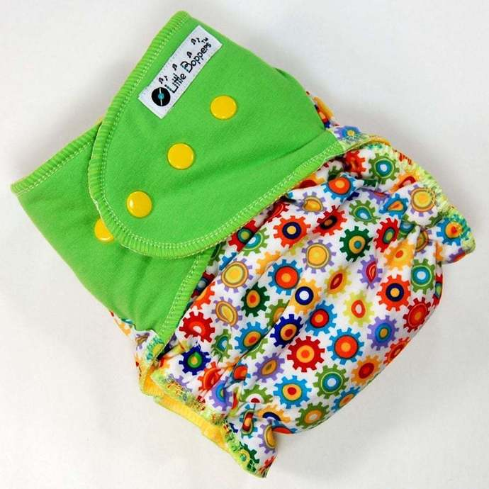 Sprockets - Cloth Diaper or Cover - You Pick Size and Style - Made to Order