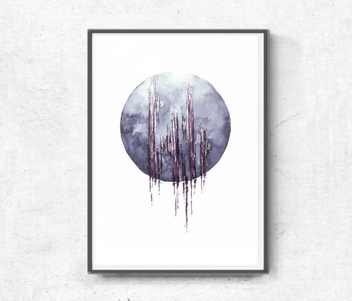 Printable watercolor, contemporary art, home decor, wall art abstract, digital