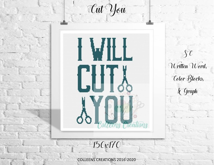 Cut You Crochet Written and Graph Design