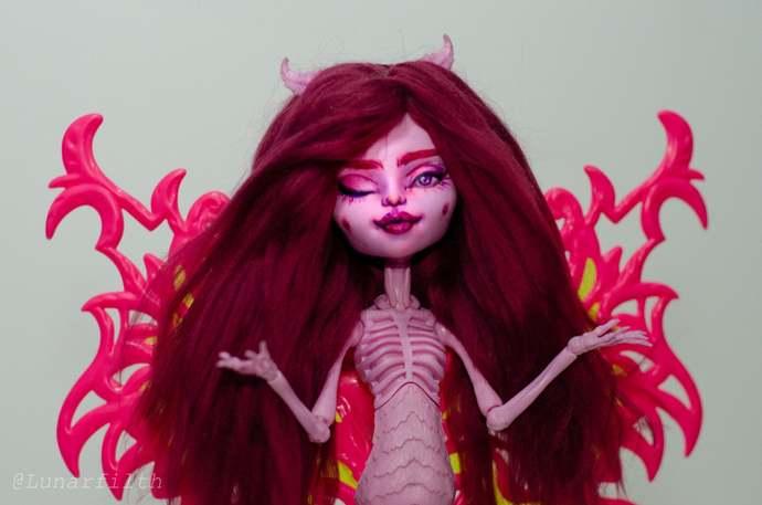 OOAK Freaky Fusion Bonita Femur w/wings Skelegirl Monster High doll by