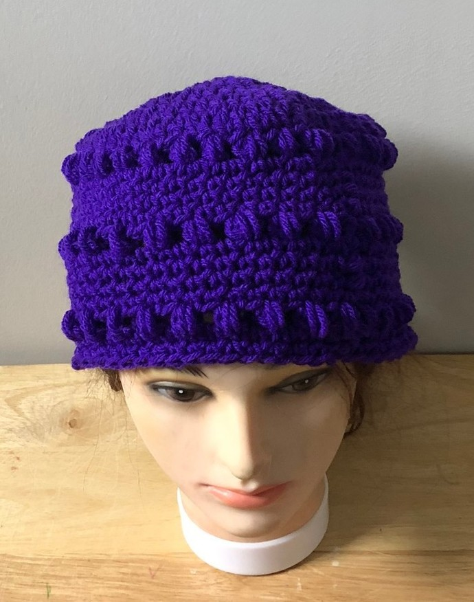 Crochet Amethyst Galaxy Hat.