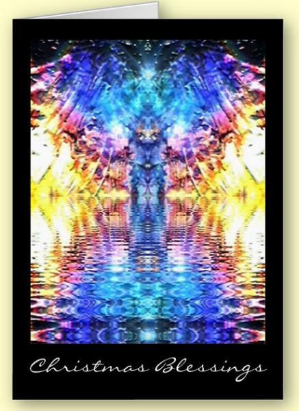 Angel abstract Greetings Card
