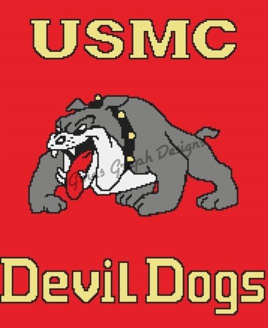USMC Devil Dogs throw 180 x 220 sc