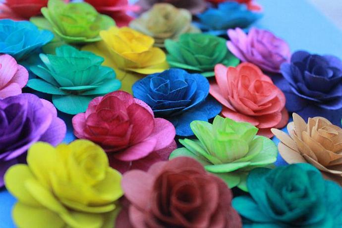 Wood Birch Flower - Choose your color