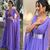 deep v neck prom dresses long chiffon purple prom gown elegant simple Dubai