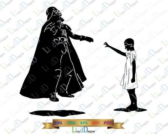 Stranger things Star Wars Eleven and Darth Vader SVG Shirt Stranger things 11