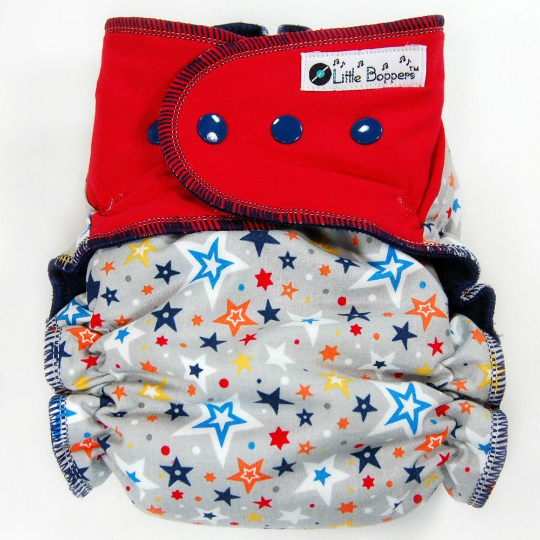 Confetti Stars - Cloth Diaper or Cover - You Pick Size and Style - Made to Order