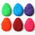 Rainbow Easter Egg Shaped Bean Bags (set of 6), Handmade in Purple, Blue, Green,