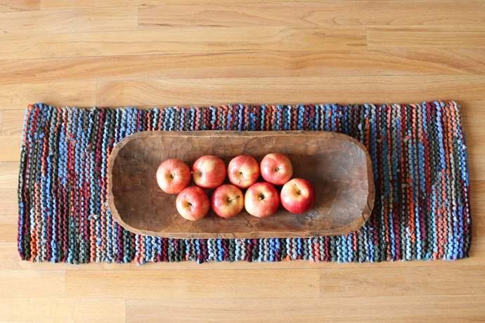 Autumn Sky Table Runner, Thanksgiving, Fall Home Decor, Red, Burgundy, Orange,