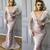 tassels evening dresses long luxury mermaid pink lace appliqué beaded evening