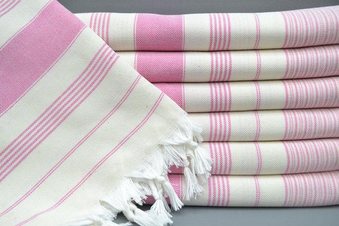Turkish Towel, Spa Towel Bulk, Bridesmaid Gift, Turkey Towel, Pink Striped