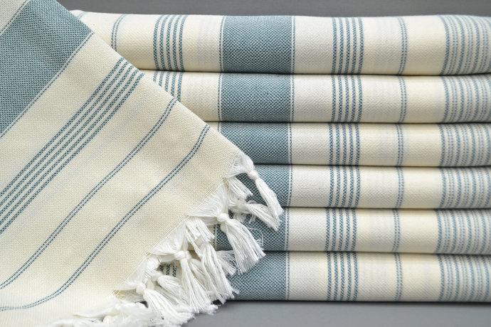 TurkisTowel,  Bulk Towel, Green Striped Towel, Bath Towel, Sauna Towel, Soft