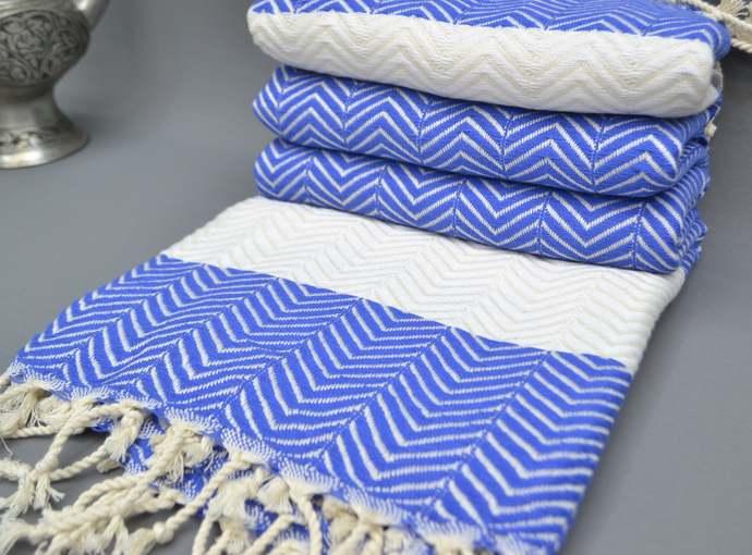 Turkish Towel, Herringbone Towel, Spa Towel, Bridesmaid Gift, Saks Blue Towel,