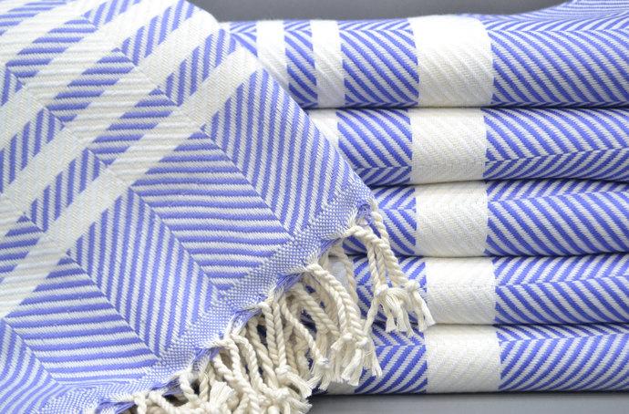 Turkish Towel, Best Quality Towel, Purple Towel, Herringbone Towel, Bath Towel,