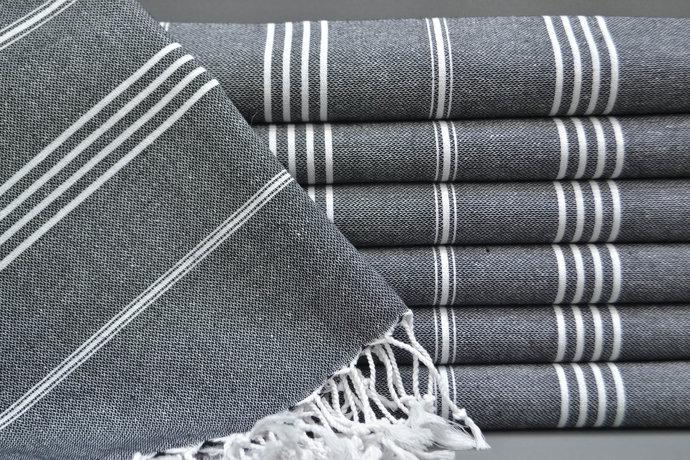 Turkish Towel, Soft Towel, Best Quality Towel, Bridesmaid Gift, Black Striped